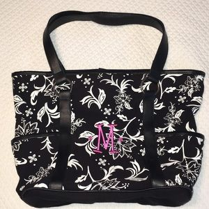 Thirty-One Black and White Tote